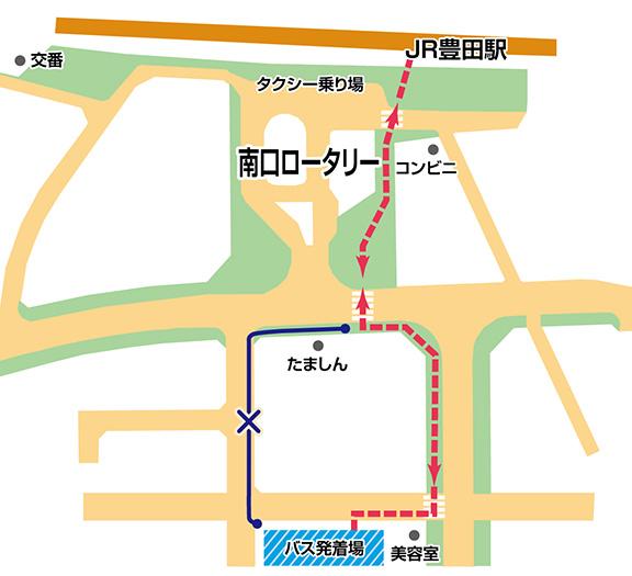 豊田駅バス停